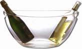 Viné sklo Chladící nádoba ovál, průzračná